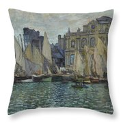 The Museum At Le Havre Throw Pillow