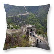 The Mutianyu Section Of The Great Wall Of China, Mutianyu Valley Throw Pillow