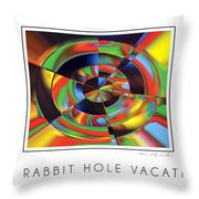 The Rabbit Hole Vacation Throw Pillow