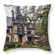 The Rhine House Throw Pillow