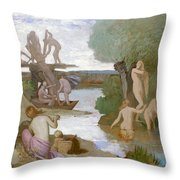 The River Throw Pillow