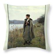 The Shepherdess Of Rolleboise Throw Pillow