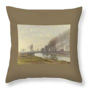 The Small Branch Of The Seine At Argenteuil Throw Pillow