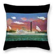 The Steamship Syracuse Throw Pillow