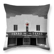 The Texas Theatre Of Bronte Texas Throw Pillow