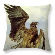 The Wounded Eagle Throw Pillow