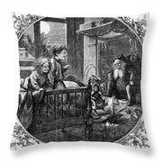 Thomas Nast: Christmas Throw Pillow by Granger