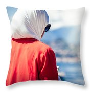 Thoughtful Women Throw Pillow