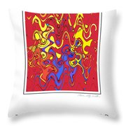 Tickle Monster Throw Pillow