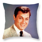 Tony Curtis Vintage Hollywood Actor Throw Pillow