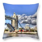 Tower Bridge And The Waverley Throw Pillow