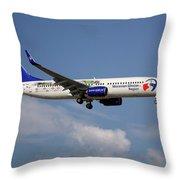 Travel Service Boeing 737-8cx Throw Pillow