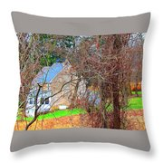 Tree House Throw Pillow