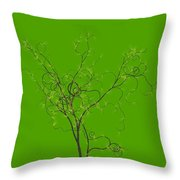Trees Of Life Throw Pillow by Charles Dobbs