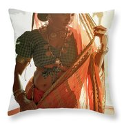 Tribal Beauty Of India Throw Pillow