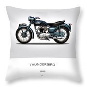 Triumph Thunderbird 1955 Throw Pillow
