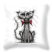 Ugly Cat Throw Pillow