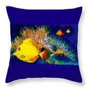 Underwater. Fish. Throw Pillow