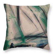 Underway Throw Pillow