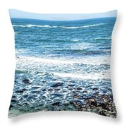 Usa California Pacific Ocean Coast Shoreline Throw Pillow