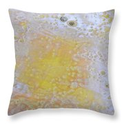 3. V2 Yellow And White Bubble Glaze Painting Throw Pillow