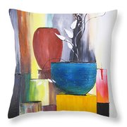 3 Vases Throw Pillow