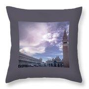 Venice, San Marco Throw Pillow