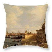 Venice  Santa Maria Della Salute Throw Pillow