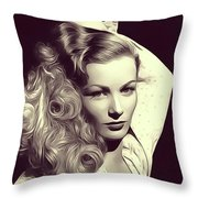 Veronica Lake, Vintage Actress Throw Pillow