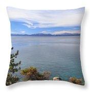 View Across Lake Tahoe Throw Pillow