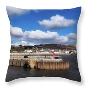 View From The Cobb - Lyme Regis Throw Pillow