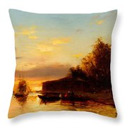 View Of Istanbul Throw Pillow