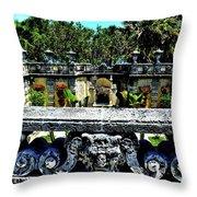 Vizcaya Museum And Gardens Throw Pillow