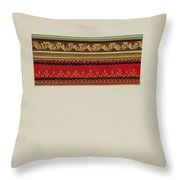 Wall Paper Border Throw Pillow