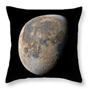 Waning Gibbous Moon / Day 20 Throw Pillow