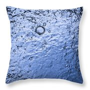 Water Abstraction - Blue Throw Pillow