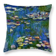 Water Lilies 1916 Throw Pillow