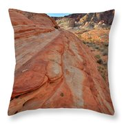 Wave Of Color In Valley Of Fire Throw Pillow