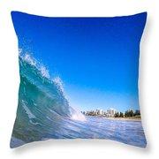 Wave Photo Throw Pillow