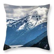 White Pass Mountains In British Columbia Throw Pillow