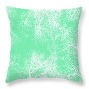 White Silhouetted Trees  Throw Pillow