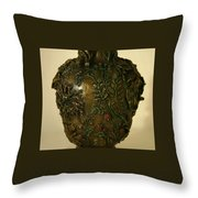 Wildflower Vase Detail Throw Pillow