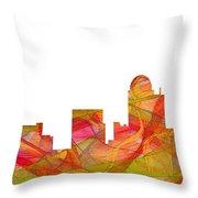 Winston-salem North Carolina Skyline Throw Pillow