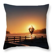 Winter By The Sea Throw Pillow