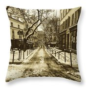 Winter In Paris Throw Pillow