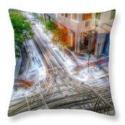 Winter Storm Passing Through Charlotte North Carolina Throw Pillow