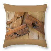 3 Wood Planes Throw Pillow