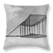 Wright Brothers Glider Throw Pillow