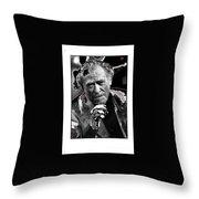 Writer Charles Bukowski On Tv Show Apostrophes September 1978-2013 Throw Pillow