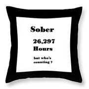 3 Years Sober Throw Pillow